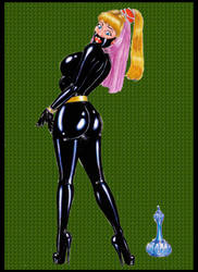 Jeannie bound in Rubber by osvaldogreco
