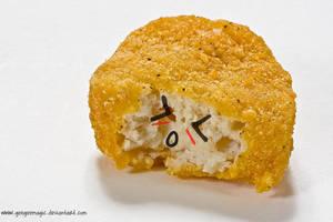 cute chicken nugget by geegeemagic