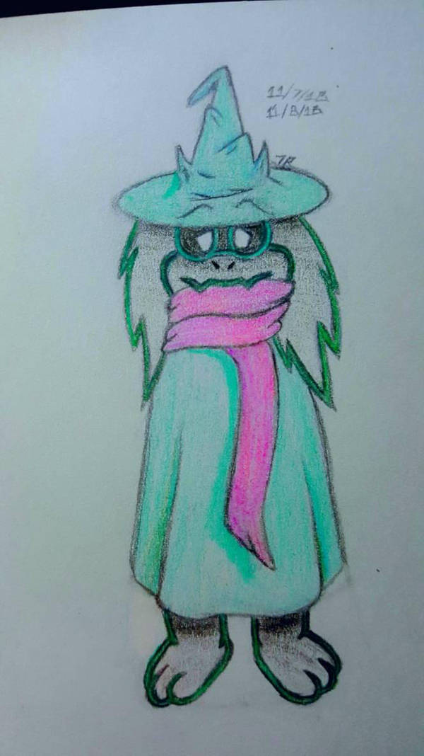 Ralsei Nomming His Scarf by Tails-155