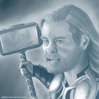 Chibi Thor by eddiew