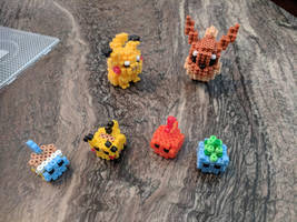 Perler 3D pokemon by daols