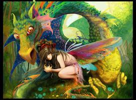 Dragon and fairy by irish-blackberry