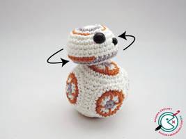 BB8 amigurumi with movable head ! by Ahookamigurumi