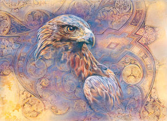 The gilded Eagle by ForestEdgeFineArt