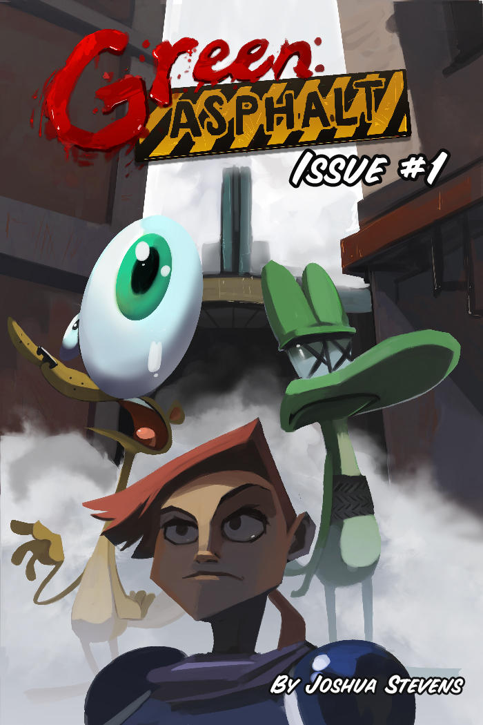 Green Asphalt Issue 1 Cover by AmazingTrout