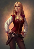 Pirate girl by Neirr