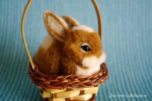 Orange Heart Bunny by SaniAmaniCrafts