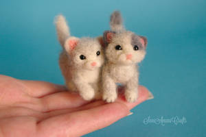 Two Little Kittens by SaniAmaniCrafts