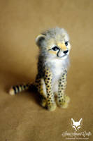 Cheetah cub by SaniAmaniCrafts