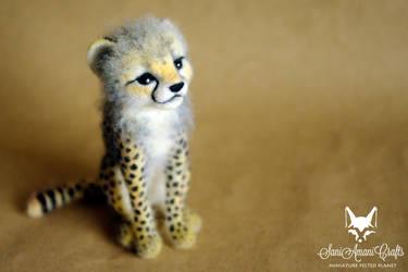 Cheetah cub by SaniAmaniCrafts