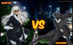Black cat VS Catwoman by Sauron88
