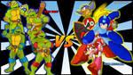 Team TMNT VS Team Megaman by Sauron88