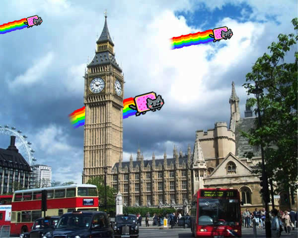 Nyan Cat Invades London by owncreation