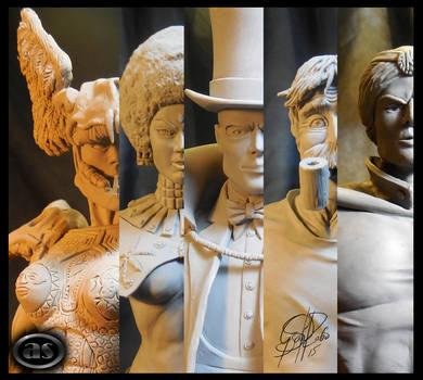 Sculpts ''LA VIDA EN CUADRITOS'' by AlejandroSandoval