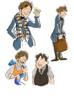 newt scamander doodles by Paulycat