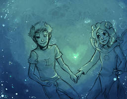 AA and Sollux by Kayetart