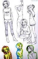 OC sketch by Kayetart