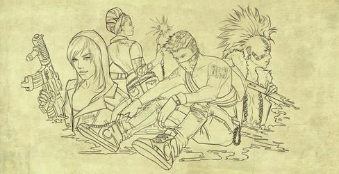 Dead Rising 3 sketch by SweeetRazzbery