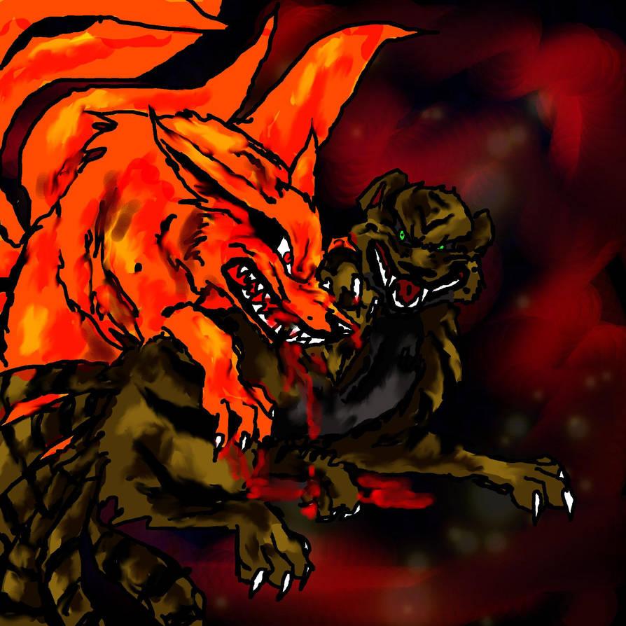 kyuubi vs kyutso bijuu battles by 9tailsfoxyfoxy on deviantart