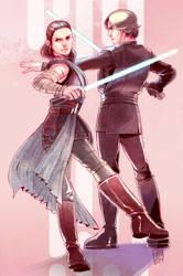 Rey and Luke. by ai-eye
