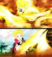 Naruto protect Boruto by Voltzix