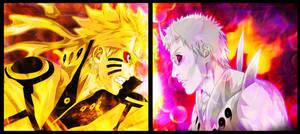 Naruto 652 - Naruto and Obito by Voltzix