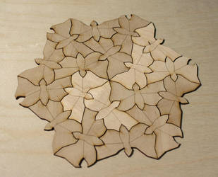 Escher Butterflies Tessellation by DracoLoricatus