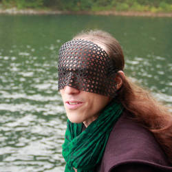 Silvered Screen Mask - Black by DracoLoricatus