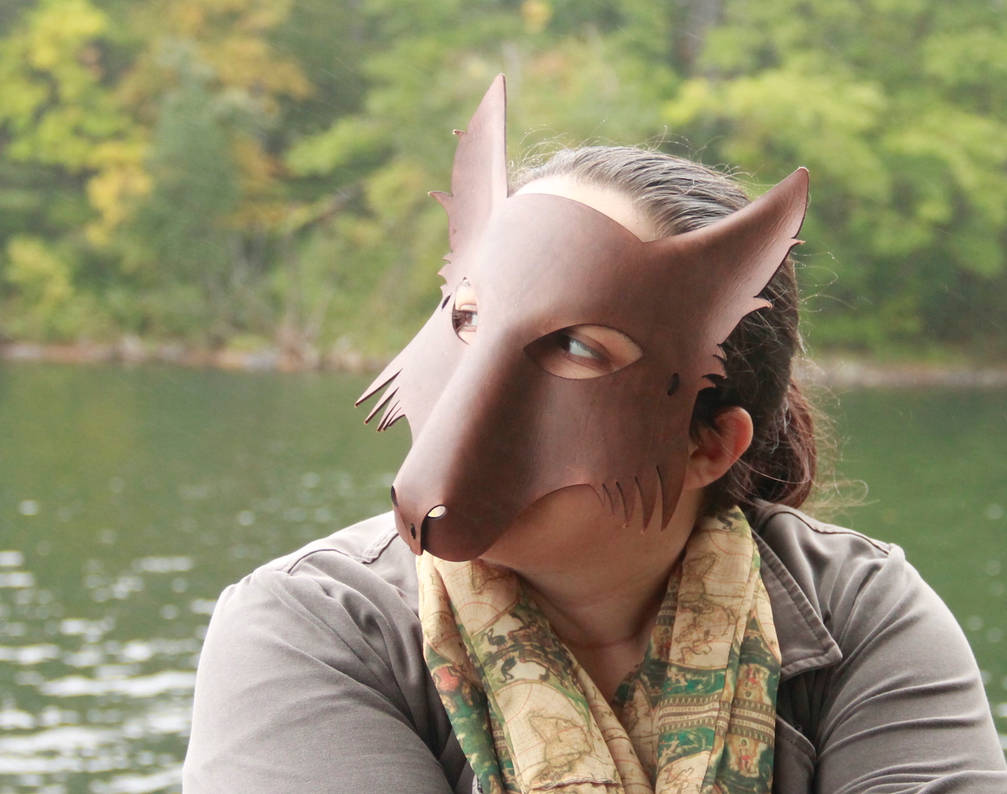 Wolf Mask - Gray-Brown by DracoLoricatus