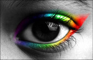 smoky rainbow eye by kHaoseef