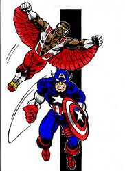 CAPTAIN AMERICA AND THE FALCON by dpage3