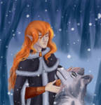 Snow wolf by Helgadream