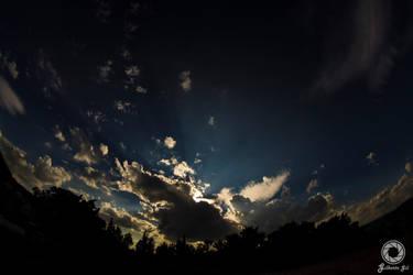 God's sunset by v3215la