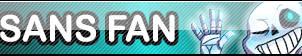 Undertale Sans fan button by SilverFlame666