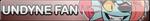 Undertale Undyne fan button by SilverFlame666