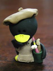 Artist penguin II by pinguinadearte