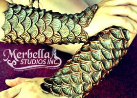 Silicone Mermaid Arm Bracers Scales by MerBellas