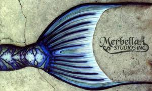 Blue Mermaid Fluke Details by MerBellas