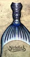 Blue Patterned Tail by MerBellas