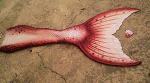 Red Mermaid Tail by MerBellas