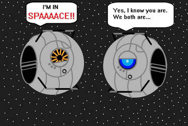 Portal 2 Space Core and Wheatley by Sabrina-J
