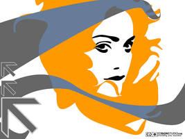 My orange Madonna by inok