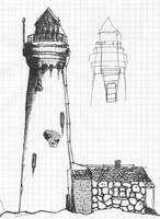 lighthouse model sketch by inok