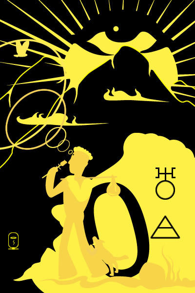 Tarot of inner fire: Fool Card by inok