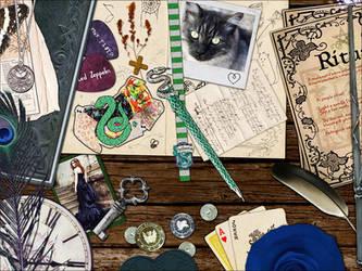 Slytherin Desk by Croiea
