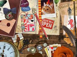 Gryffindor Desk by Croiea