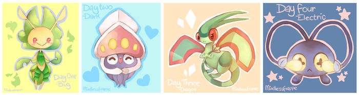 Pokemon - Day 1 - 4 by MindlessFrappe