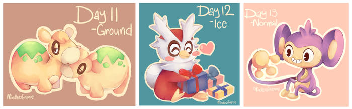 Pokemon - Day 11-13 by MindlessFrappe