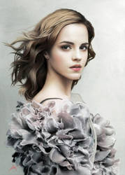 Emma Watson' Portrait by touchedbyred