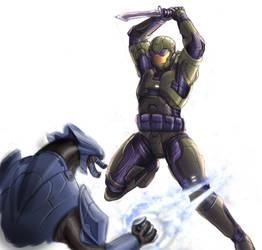 Spartan vs Elite - WIP by Jun89